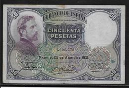 Espagne - 50 Pesetas - 1931 - Pick N°82 - TB - [ 2] 1931-1936 : République