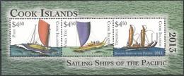 Cook Islands 2013 Yvertn° Bloc 237 *** MNH  Cote 25,00 Euro Transport Boten Ships Bateaux Du Pacifique - Cook
