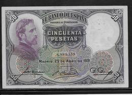 Espagne - 50 Pesetas - 1931 - Pick N°82 - TTB - [ 2] 1931-1936 : République