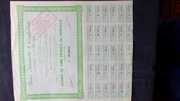 24- BERGERAC- RARE ACTION DE 4000 FRANCS AU PORTEUR-UNION INDUSTRIELLE COMMERCIALE DU PRIGORD -VIDEAU-PAULIAC-GORIN-1928 - Industrie