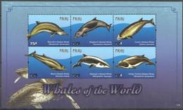 Palau 2011 Yvertn° 2602-2607 *** MNH  Cote 15,00 Euro Faune Marine Baleines Whales Walvissen - Palau