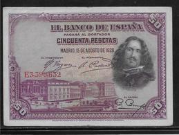Espagne - 50 Pesetas - 1928 - Pick N°75 - TTB - [ 2] 1931-1936 : République