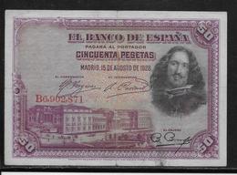 Espagne - 50 Pesetas - 1928 - Pick N°75 - TB - [ 2] 1931-1936 : Repubblica