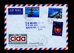 A5471) Franz. Polynesien France Brief V. Papeete 6.3.81 N. USA - Storia Postale