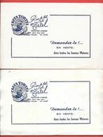 2 Buvards Anciens Rares - CAFES TORTEL - TORREFACTION ET BUREAUX à TOULON Illustr.lithographie D'après O Q'HEY - Coffee & Tea