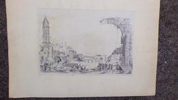 24- PERIGUEUX- RARE BELLE DESSIN GRAVURE MARC ESPINASSE 1884 - Estampes & Gravures