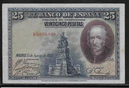 Espagne - 25 Pesetas - 1928 - Pick N°74 - TTB - [ 2] 1931-1936 : Republiek