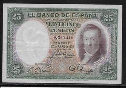 Espagne - 25 Pesetas - 1931 - Pick N°81 - TTB - [ 2] 1931-1936 : Republiek