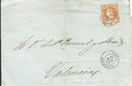 CARTA 1860  RODA ALBACETE  A VALENCIA - Briefe U. Dokumente