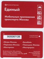 Russia 2018 1 Ticket Moscow Metro Bus Trolleybus Tramway Mobile Applications Of Transport In Moscow - Subway