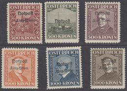 AUSTRIA - AUTRICHE - OSTERREICH - 1924 -  Serie Completa Nuova; 6 Valori Con Sovrastampa NOTPOST LINZ-WIEN - Variétés & Curiosités