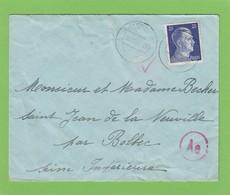 LETTRE DE LUXEMBOURG POUR SAINT JEAN DE LA NEUVILLE,GRIFFE DE CENSURE.BRIEF NACH ST.JEAN DE LA NEUVILLE,ZENSURSTEMPEL. - 1940-1944 Occupation Allemande