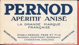 Buvard Ancien - PERNOD - APERITIF ANISE - Ets PERNOD PERE à AVIGNON,MONTFAVET,BORDEAUX,CHARENTON,CHALONS - Liqueur & Bière