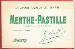 """Buvard Ancien - LIQUEUR MENTHE-PASTILLE """"GOFFARD""""   à ANGERS           PUBLIDEAL à BORDEAUX - Liqueur & Bière"""