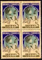 Brasil C 0253 Campeonato Mundial De Futebol Quadra 1950 NN - Nuevos