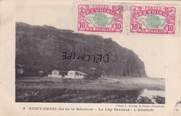 Saint-DENIS (Ile De La Réunion)-Le CAP BERNARD-L'ABATTOIR-Ecrite Le 3 Juil. 1920 à HELL-Bourg-2 Timbres-2 Cachets - Saint Denis