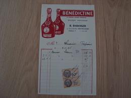 FACTURE BENEDECTINE R. RANGER MONTICHARD 1935 - Frankrijk