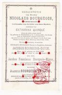 † Pest - Stamboom Chirurg N. Bourgeois Quinqué Duyck Callens Minne / Doornik Izegem Rumbeke / Pastoor Dela Houssoye - Images Religieuses
