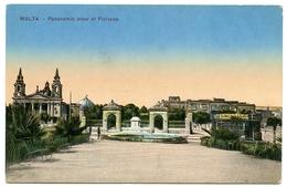 MALTA : PANORAMIC VIEW OF FLORIANA (WITH TRAM) - Malta