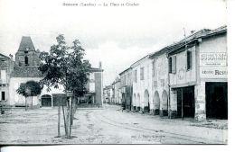 N°62508 -cpa Geaune -la Place Et Clocher- - France