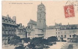 Cpa 12 Rodez Horlogerie Place De La Cité - Rodez