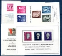 Allemagne/RDA Cinq Blocs-feuillets Neufs ** MNH 1954/1958. Bonnes Valeurs. TB. A Saisir! - DDR