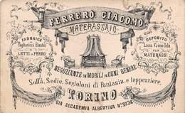 "0031 ""FERRERO GIACOMO - TORINO - MATERASSAIO""  .BIGLIETTO DA VISITA ORIG. - Cartes De Visite"