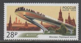 RUSSIA, 2018, MNH,EUROPA, BRIDGES,1v - 2018
