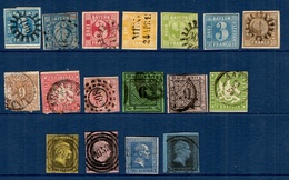 17 Classiques De Bavière, Würtemberg Et Prusse 1850/1868. Bonnes Valeurs. Forte Cote! A Saisir! - Collections