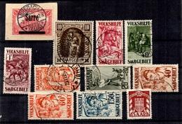 Sarre Belle Petite Collection De Bonnes Valeurs Oblitérées 1920/1949. B/TB. A Saisir! - Saar