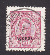 Azores, Scott #62, Used, King Luiz Overprinted, Issued 1887 - Azoren