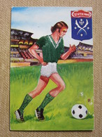 Carte Brodée, Football, Saint Etienne - Borduurwerk