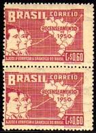 Brasil C 0254 Variedade Par Com Deslocamento Para A Esquerda NNN - Unused Stamps