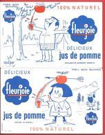 2 Buvards Anciens - FLEURJOIE - JUS DE POMME Exclusivité BARDINET NEGRITA - GUILLAUME TELL  Illustré Par MOFREY - Limonades