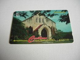TELECARTE ANTIGUA ET BARBUDA EGLISE N° 18CATC001372 - Antigua And Barbuda