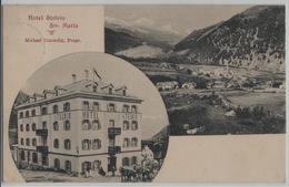 Hotel Stelvio Sta. Maria - Postkutsche, Animee - Photo: Engadin Press - GR Grisons