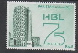 PAKISTAN, 2016, MNH,BANKS, HABIB BANK, 1v - Stamps