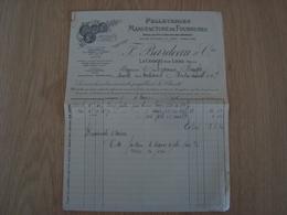 FACTURE F. BARDEAU & Cie MANUFACTURE DE FOURRURES LA CHARITE SUR LOIRE 1936 - France