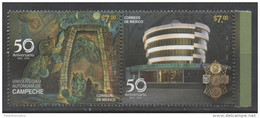 MEXICO, 2015, MNH, CAMPECHE UNIVERSITY, EDUCATION, JEWELLERY, LEGENDS, 2v - Stamps