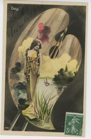 FEMMES - FRAU - LADY - SPECTACLE - ARTISTES - THEATRE - Portrait De DOLL Dans Palette Peinture - Femmes