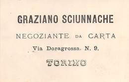 """0037 """"GRAZIANO SCIUNNACHE - TORINO - NEGOZIANTE DA CARTA"""" BIGL. DA VISITA ORIG. - Visiting Cards"""