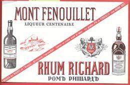 Buvard Ancien MONT FENOUILLET-RHUM RICHARD -Texte JEAN AICARD 1897 POETE,ROMANCIER VAROIS (GASPARD DE BESSE,MAURIN DES M - Liqueur & Bière