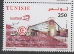 TUNISIA ,2016, MNH, 50TH ANNIVERSARY OF TUNISIAN TELEVISION, TV, 1v - Stamps