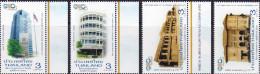 THAILAND, 2015, MNH, REVENUE DEPARTMENT, BUILDINGS, 4v - Stamps