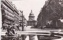 PARIS. LA RUE SOUFFLOT ET LE PANTHEON. E R PARIS. CIRCULEE TO BUENOS AIRES.-BLEUP - Pantheon
