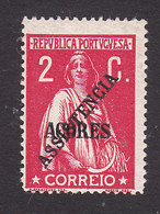 Azores, Scott #like RA2 For Telegraphs, Mint Never Hinged, Ceres Overprinted, Issued 1911 - Açores