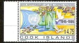 Cook Islands 1995 Yvertn° 1129 *** MNH  Cote 10,00 Euro Nations Unie UNO ONU - Cook