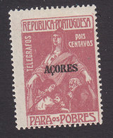 Azores, Scott #like RA3 For Telegraphs, Mint Hinged, Charity Overprinted, Issued 1915 - Azores