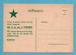 Esperanto Postkarto   ( Format10,5cm X 15cm ) - Esperanto