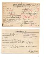 2280) 1941 POW 2^ WW CAMICIA NERA SANT'ANGELO MUXARO CARTELLINO - Marcophilia